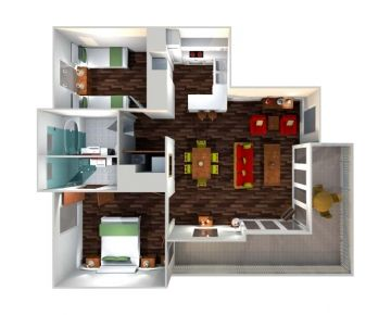 2 Bedroom Superior Apartment layout